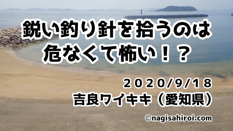 海中ゴミ拾い活動in吉良ワイキキビーチ(愛知県西尾市)2020年9月18日