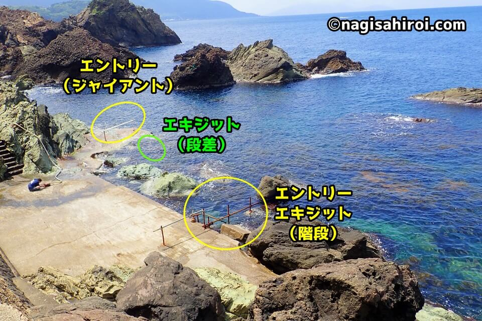 ダイビングスポット『越前』ログ前ビーチ