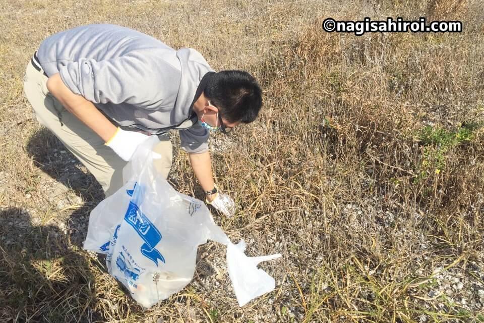 ゴミ拾いスポット『西ノ浜』愛知県田原市、亀の子隊