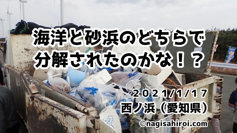 環境ボランティアサークル亀の子隊2021年1月17日